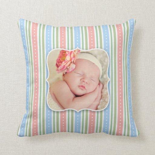 Baby Girl/Boy Photo Throw Pillow