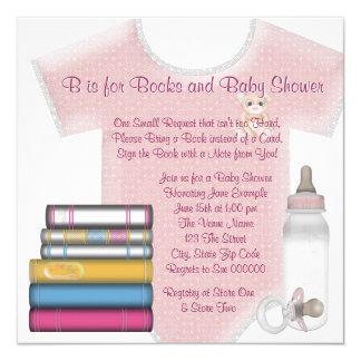 Baby Girl Bring A Book Baby Shower Custom Invitation