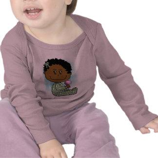 Baby girl brown hair and eyes tee shirts