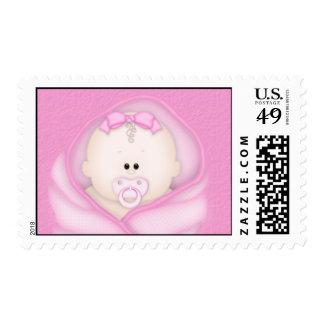Baby Girl  Bundle Shower Stamp