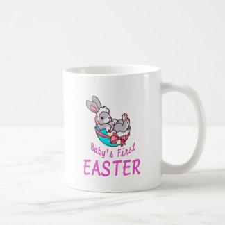 Baby Girl Bunny First Easter Coffee Mug