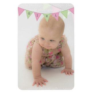 Baby Girl Bunting 6x4 Photo Magnet Keepsake