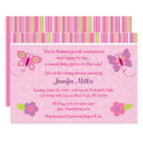 Baby Girl Butterfly Baby Shower Invitations