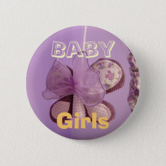 Baby Girl buttons Lavendar Butterfly Mobile