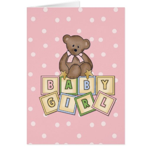 Baby Girl Card Greeting Cards