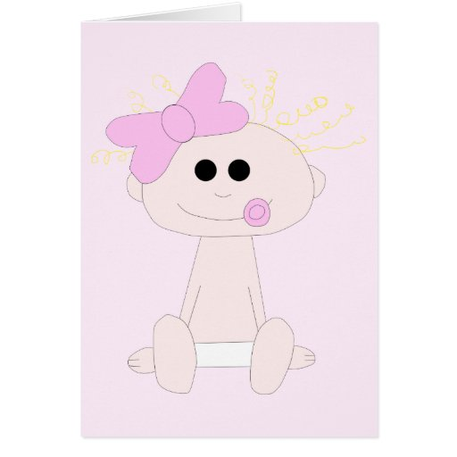 Baby Girl Card Template