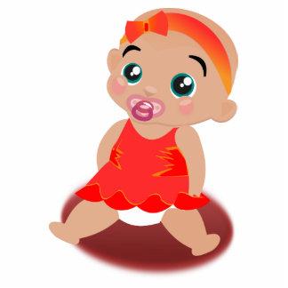Baby girl cartoon photo sculpture keychain