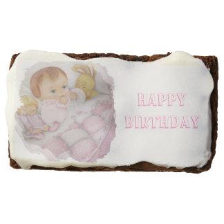Baby girl chocolate brownie