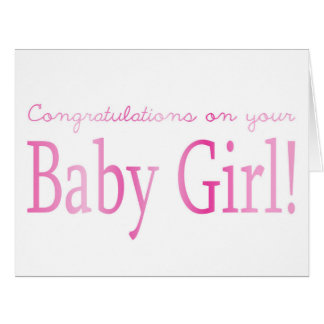 Baby Girl congratulations Large Greeting Card