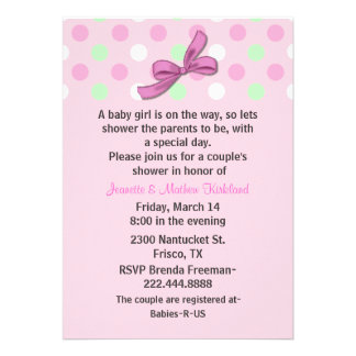 Baby Girl Couple's Baby Shower Invitation