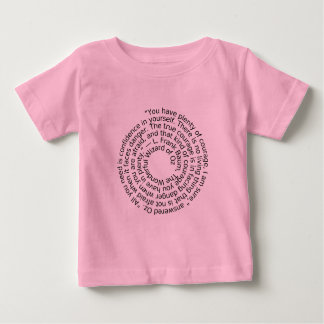 Baby girl courage quote shirt