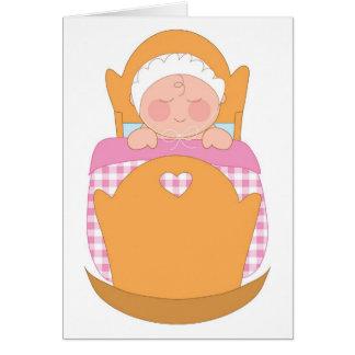 Baby Girl Cradle Card