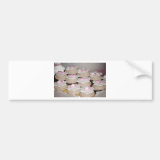 baby girl cupcakes bumper sticker