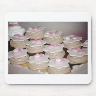 baby girl cupcakes mouse pad