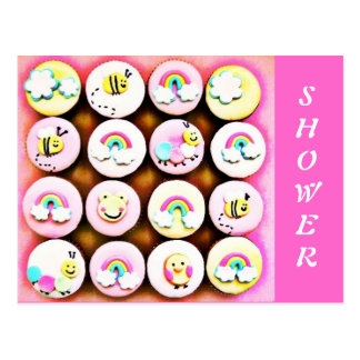 Baby Girl Cupcakes Post Cards