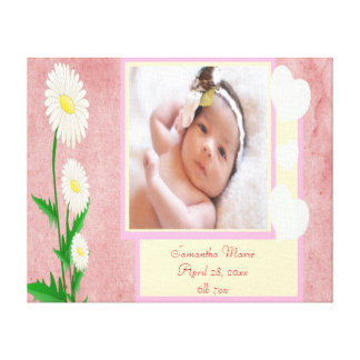 Baby Girl Custom Photo Keepsake Canvas Print