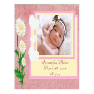 Baby Girl Custom Photo Keepsake Postcard