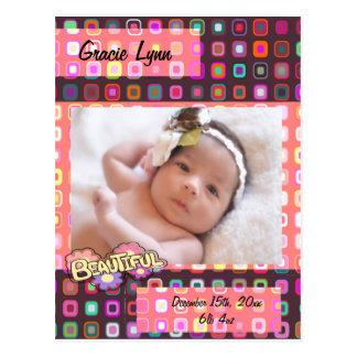 Baby Girl Custom Photo Postcard