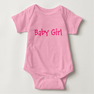 Baby Girl Customizable Pink Text on Lighter Pink Tee Shirt