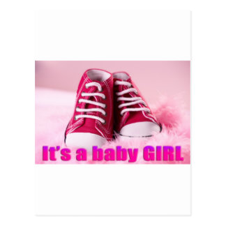 Baby girl cute baby shoes postcard