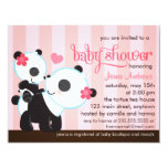 Baby Girl Cute Panda Baby Shower Personalized Announcements