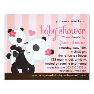 Baby panda invitations zazzle baby girl cute panda baby shower invitation filmwisefo