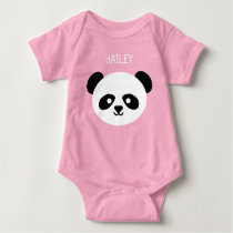 Baby Girl Cute Panda Personalized Kawaii Baby Bodysuit