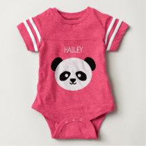 Baby Girl Cute Panda Personalized Kawaii Baby Bodysuit