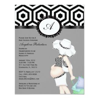 Baby Girl Cute Shower Custom Invite