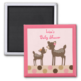 Baby Girl Deer Forest Party Favor Magnets
