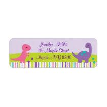 Baby Girl Dinosaur Address Labels