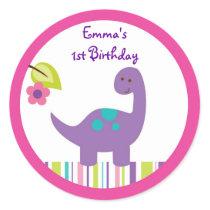 Baby Girl Dinosaur Stickers