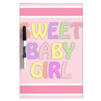 Baby Girl Dry Erase Board