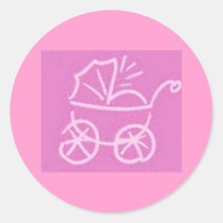 Baby Girl Envelope Seals Classic Round Sticker