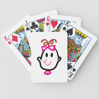 Baby Girl Face Bicycle Playing Cards