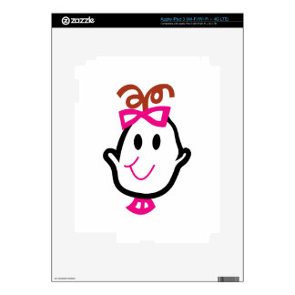 Baby Girl Face iPad 3 Decals