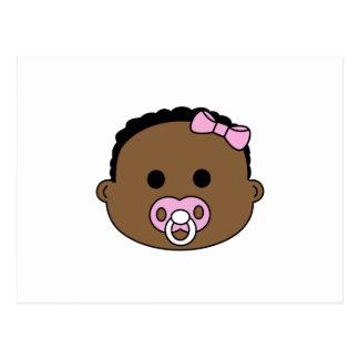 BABY GIRL FACE POSTCARD