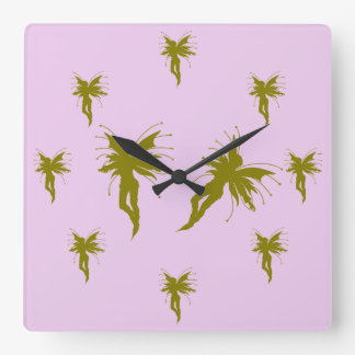 Baby girl faerie clock