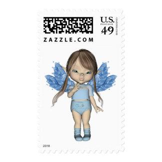 Baby Girl Fairy Elfins Postage Stamp