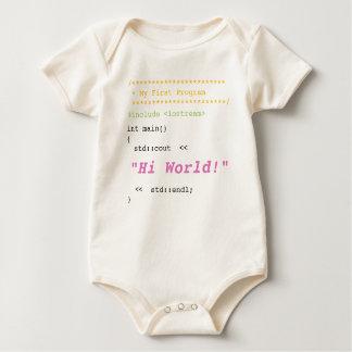 Baby Girl First C++ Program Baby Bodysuit