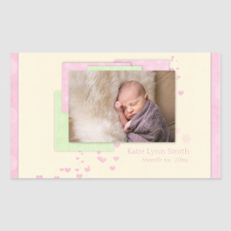 Baby Girl First Christmas Sticker