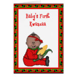 Baby Girl First Kwanzaa Greeting Card