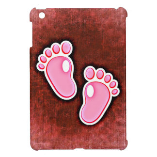 baby girl footprints feet cute expecting newborn iPad mini cases
