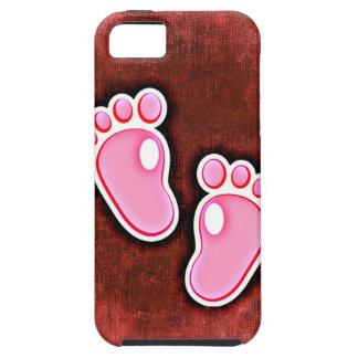 baby girl footprints feet cute expecting newborn iPhone SE/5/5s case