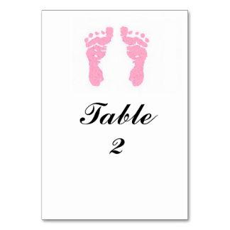 """""""Baby Girl Footprints"""" Tablecard Table Card"""