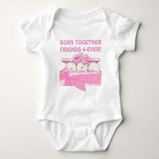 Baby Girl Friends Forever triplets bodysuit