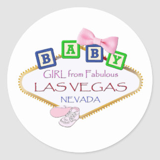 Baby Girl from Las Vegas Stickers