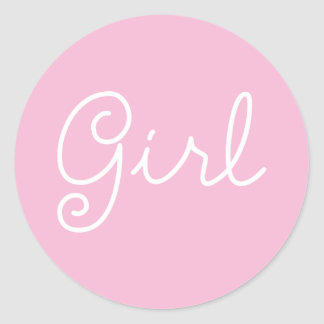 Baby Girl | Gender Reveal Party Stickers