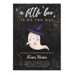 Baby Girl Ghost Halloween Shower Little Boo Invitation