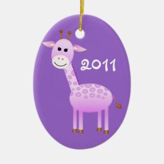 Baby Girl Giraffe/ Photo Ceramic Ornament